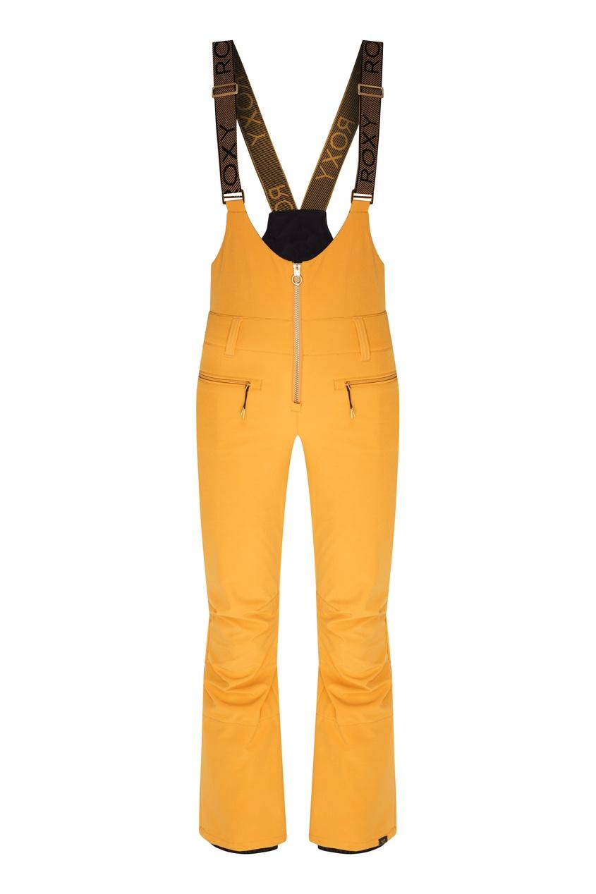 женские сноубордические брюки roxy, желтые