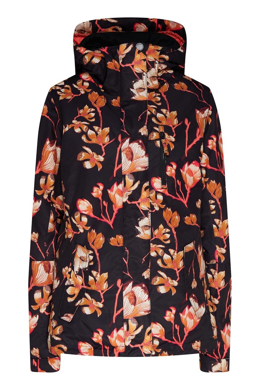 женская сноубордические куртка roxy, черная