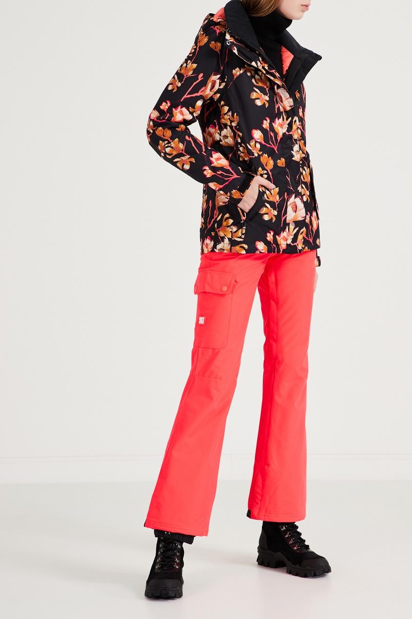 Фото 2 - Сноубордические брюки кораллового цвета Recruit от DC Shoes розового цвета