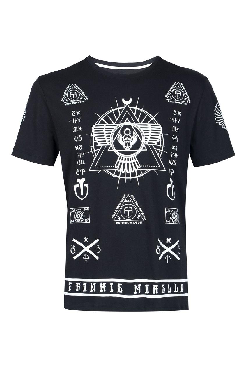 мужская футболка frankie morello, черная