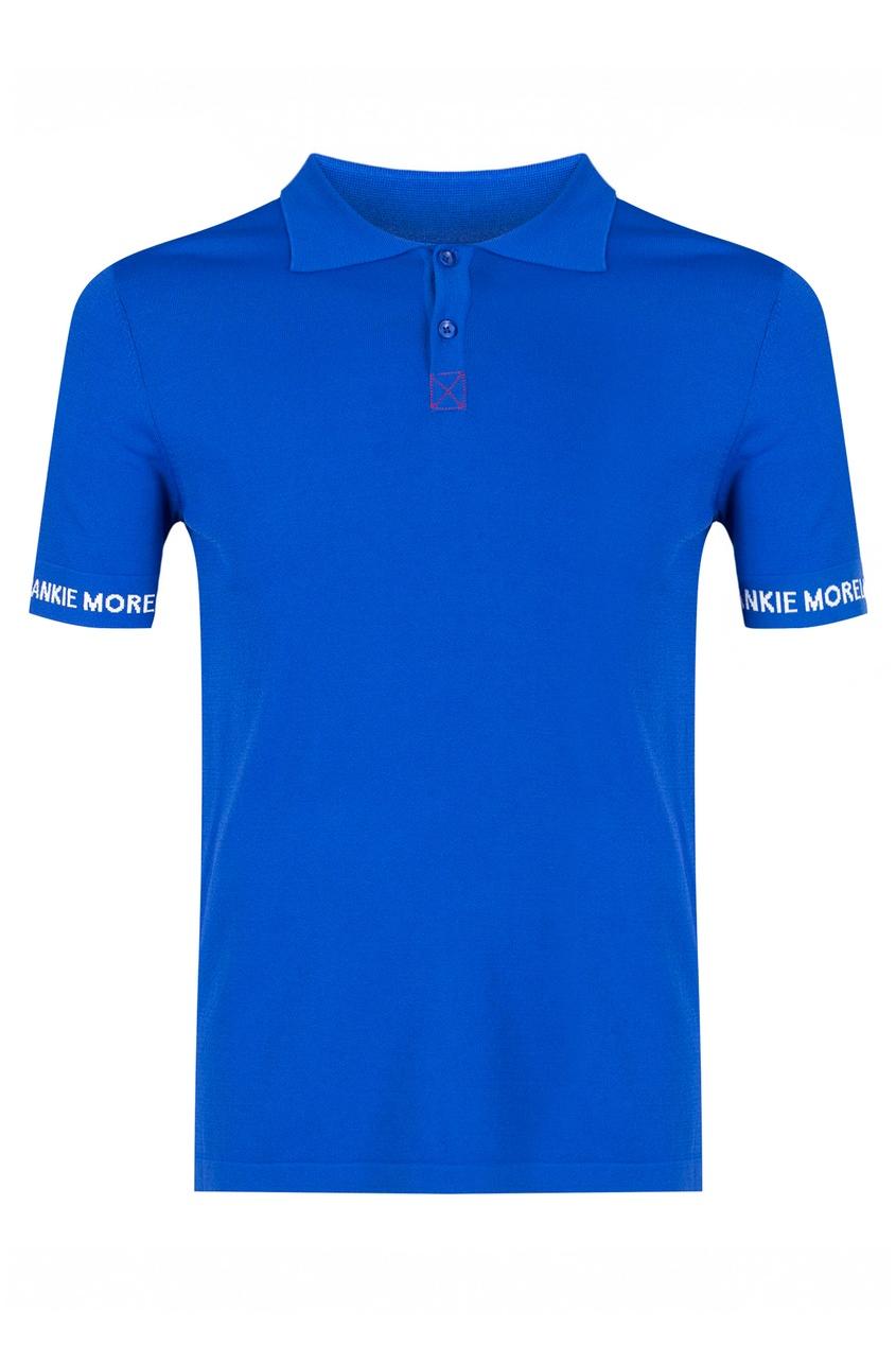 мужское поло с коротким рукавом frankie morello, синее
