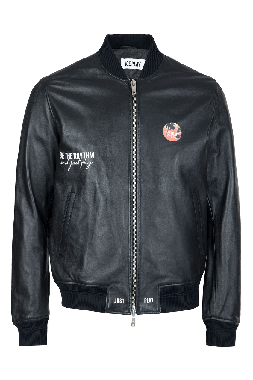 мужская куртка бомбер ice play, черная