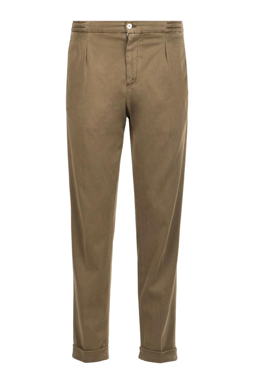 мужские брюки marco pescarolo, коричневые