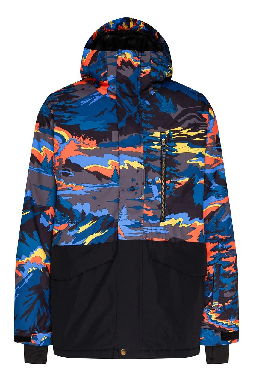 мужская сноубордические куртка quiksilver, зеленая