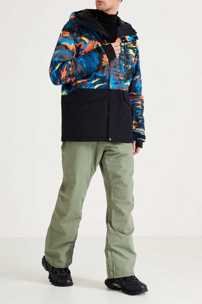Фото 2 - Зеленые сноубордические штаны Estate от Quiksilver зеленого цвета
