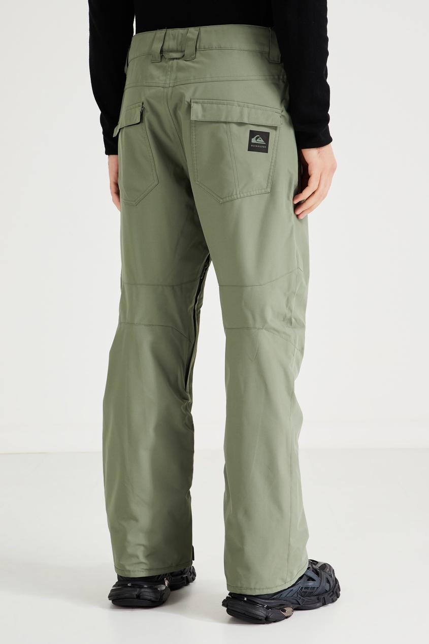Фото 4 - Зеленые сноубордические штаны Estate от Quiksilver зеленого цвета