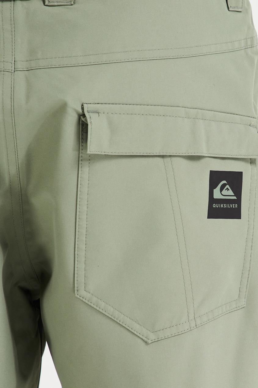 Фото 5 - Зеленые сноубордические штаны Estate от Quiksilver зеленого цвета