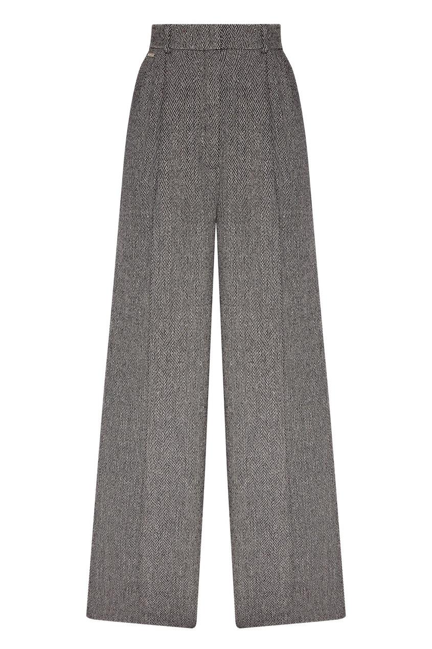 женские шерстяные брюки laroom, серые