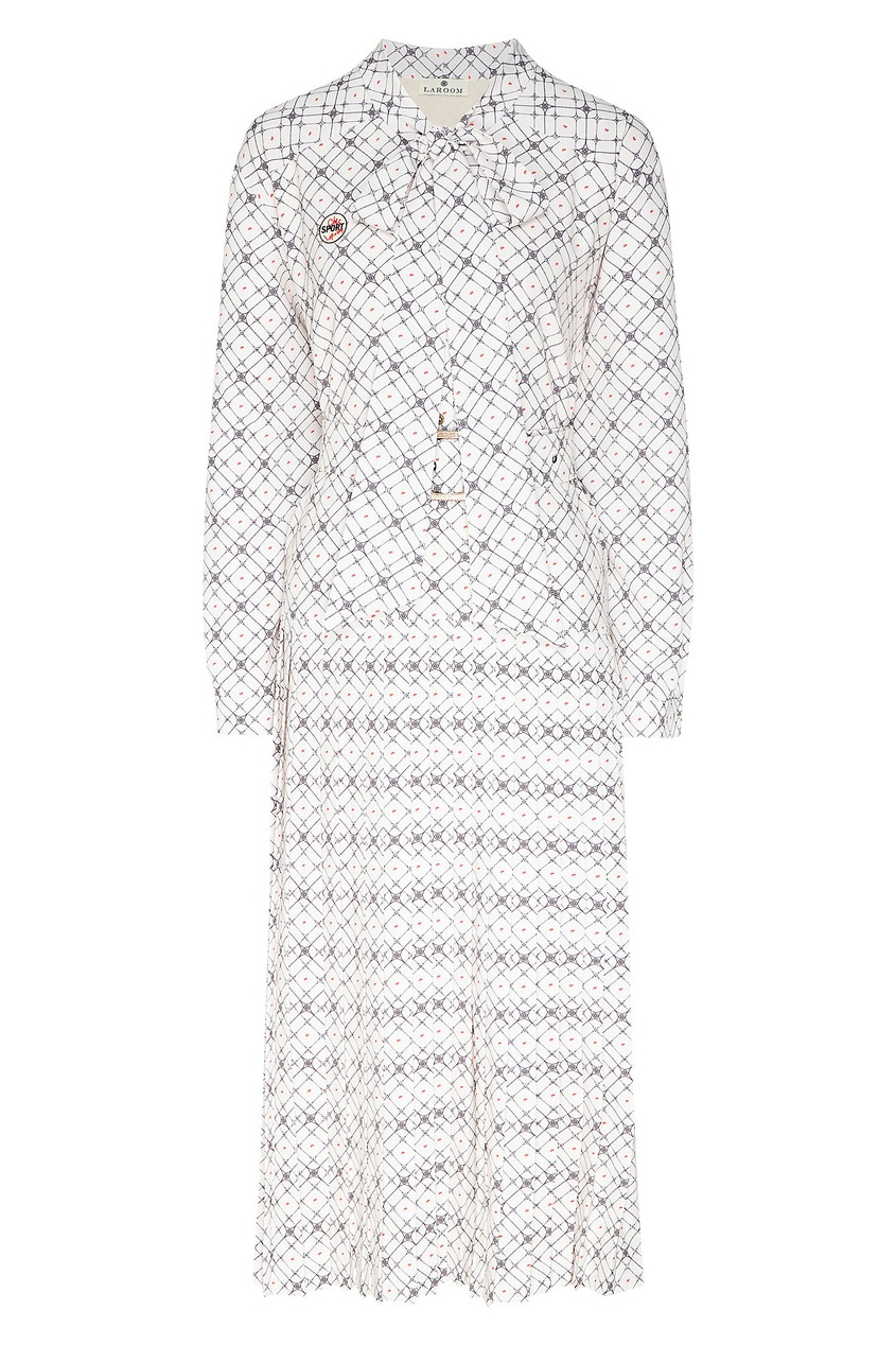 женское платье миди laroom, белое