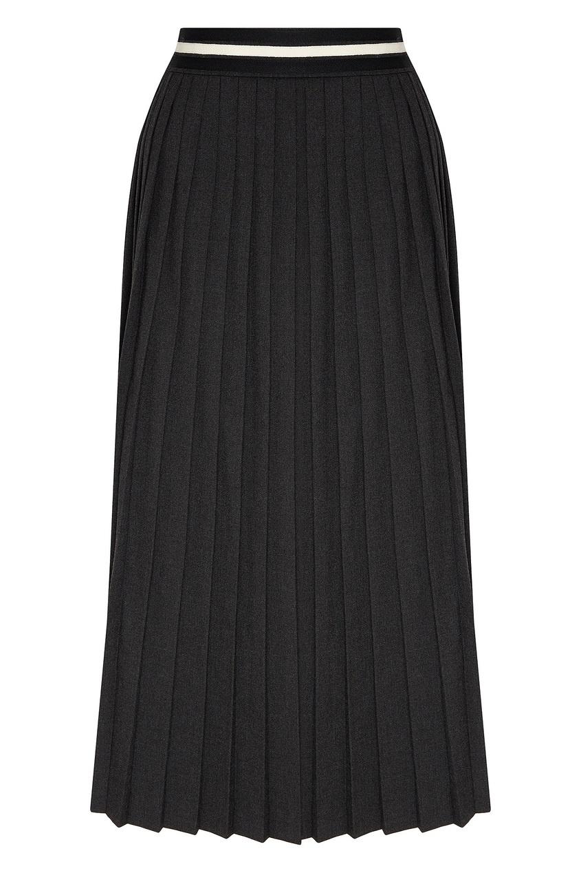 женская плиссированные юбка laroom, серая
