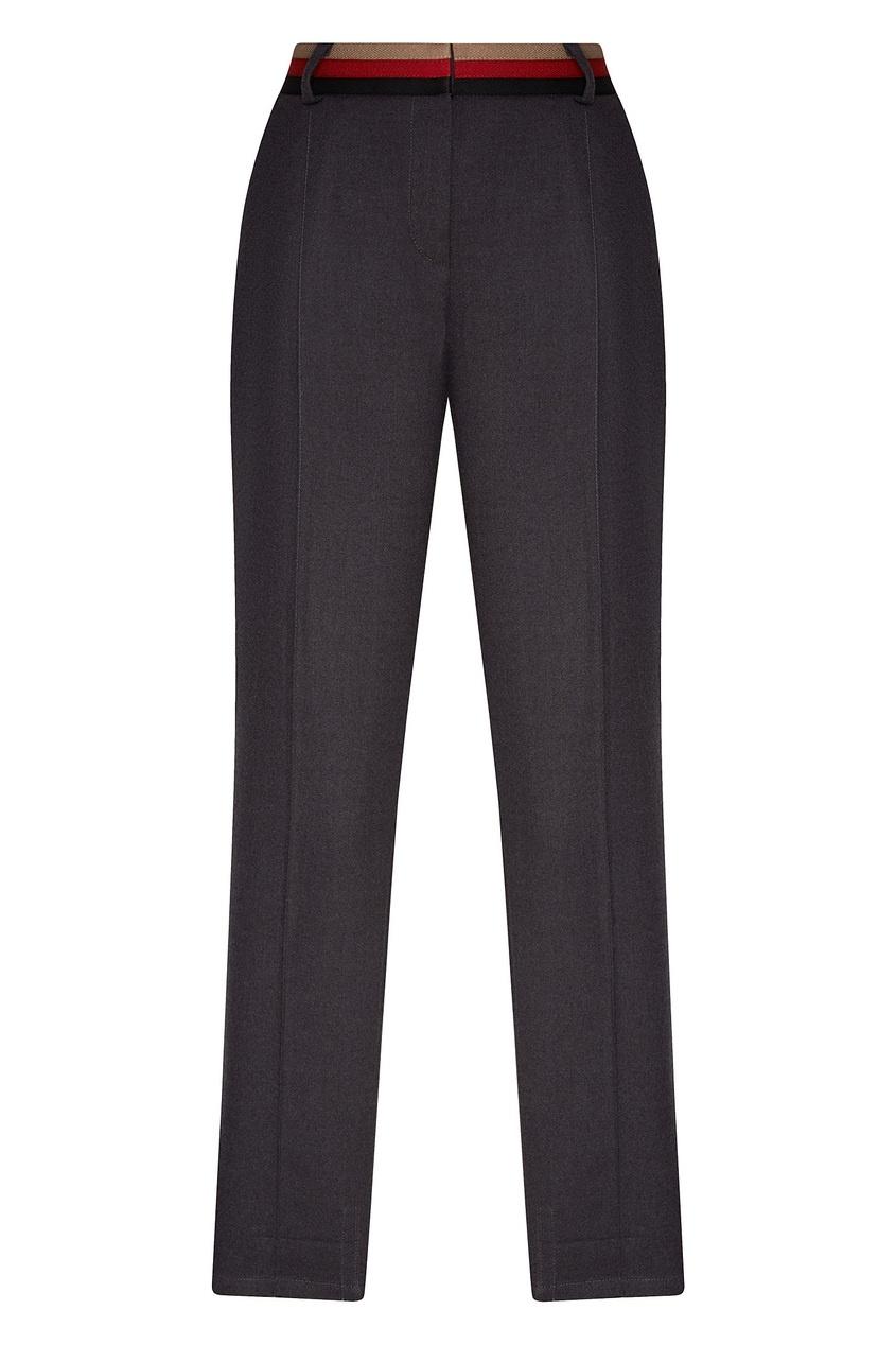 Фото - Серые брюки из вискозной ткани серого цвета