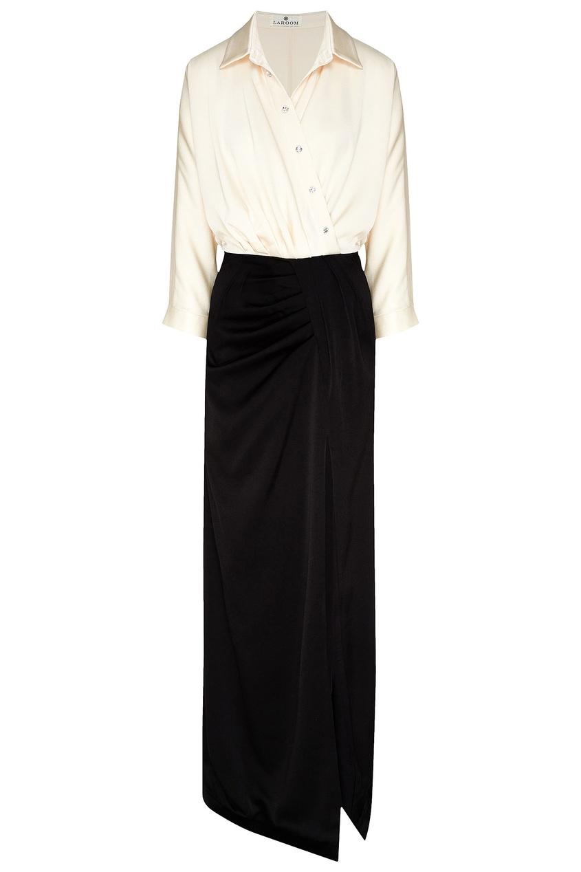 женское платье с запахом laroom, белое