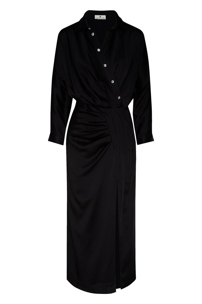 женское платье макси laroom, черное