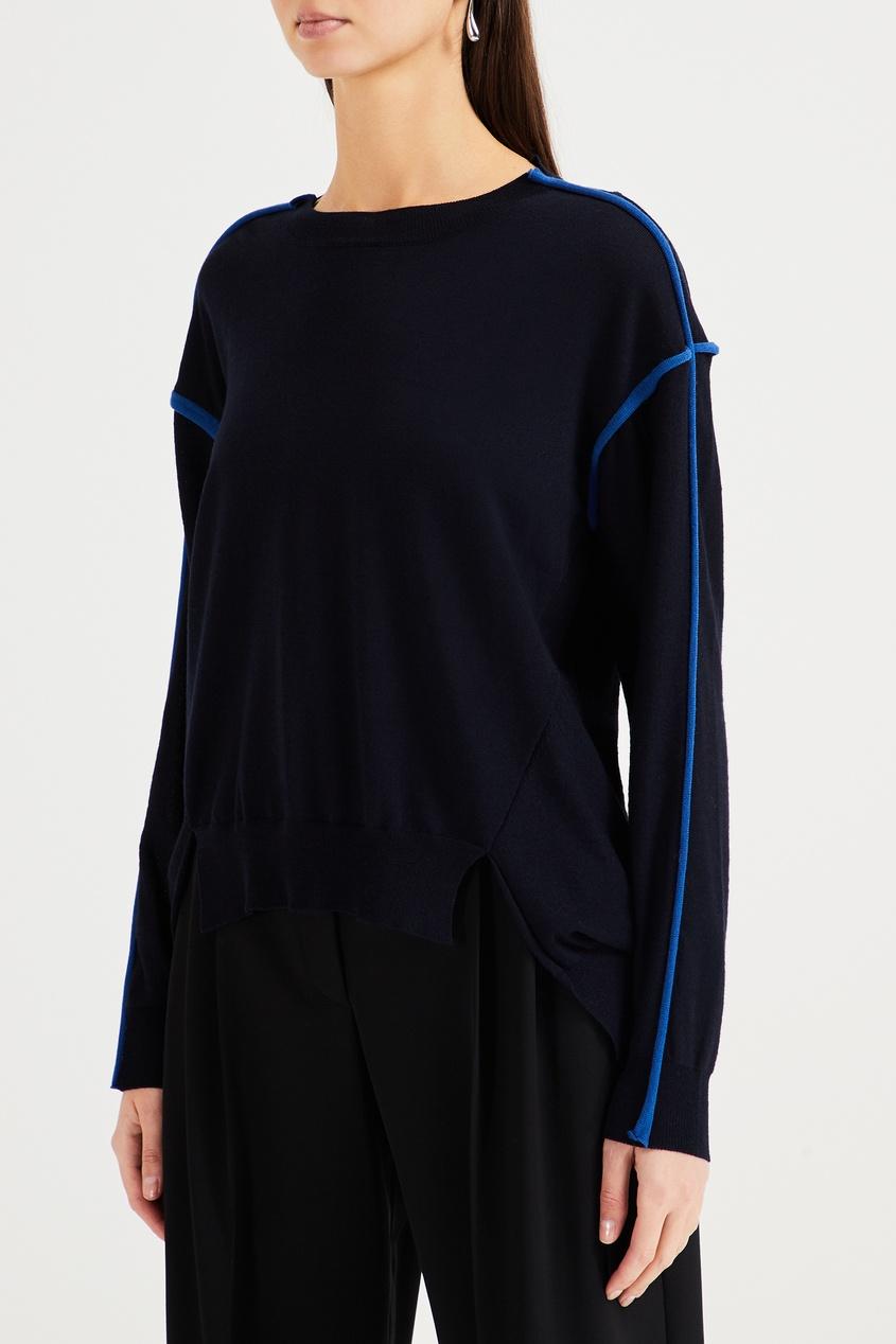 Фото 4 - Синий шерстяной джемпер от Stella McCartney синего цвета
