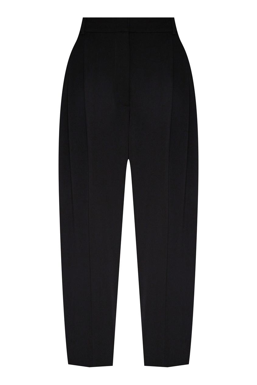женские укороченные брюки stella mccartney, черные