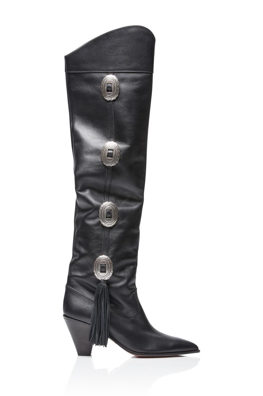 Черные кожаные сапоги Go West 70