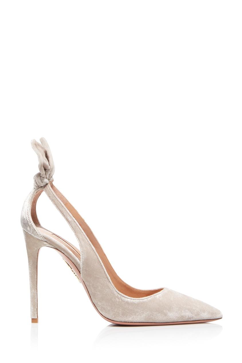 женские туфли aquazzura, серые