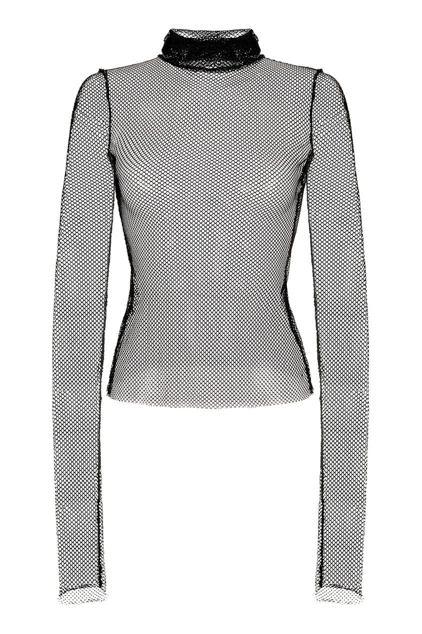 Водолазка из сетчатой ткани