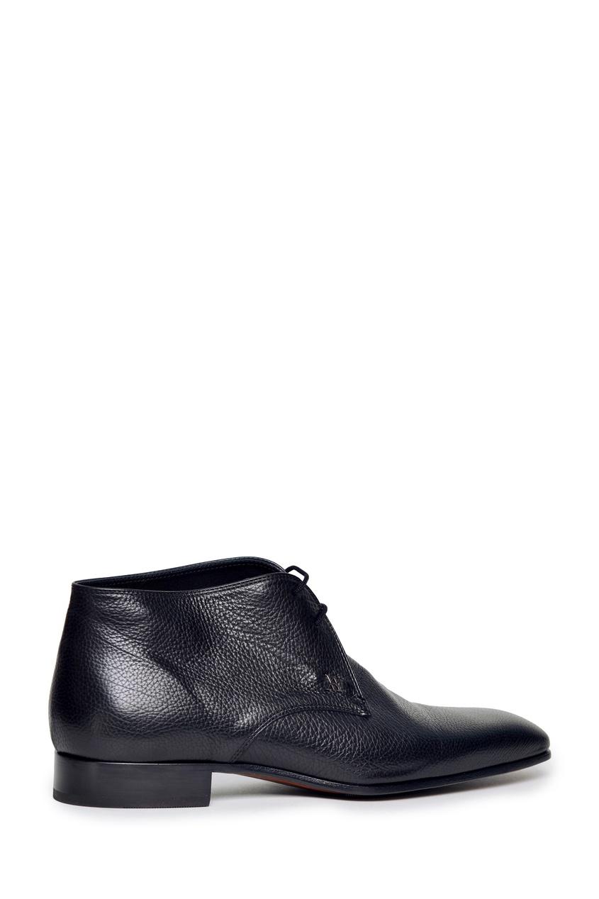 Черные ботинки со шнуровкой от Artioli