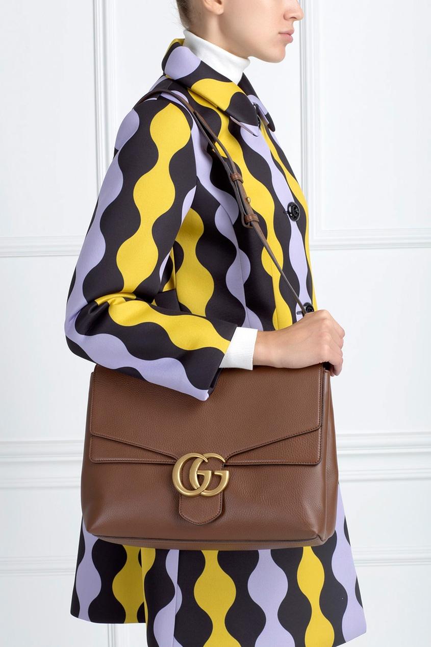 Gucci Кожаная сумка GG Marmont
