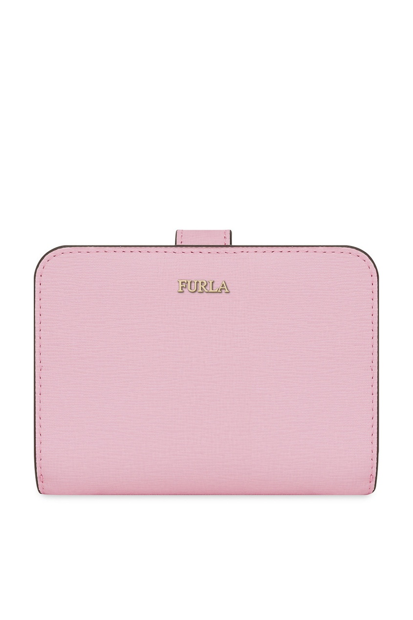 Розовый кошелек из матовой сафьяновой кожи Furla