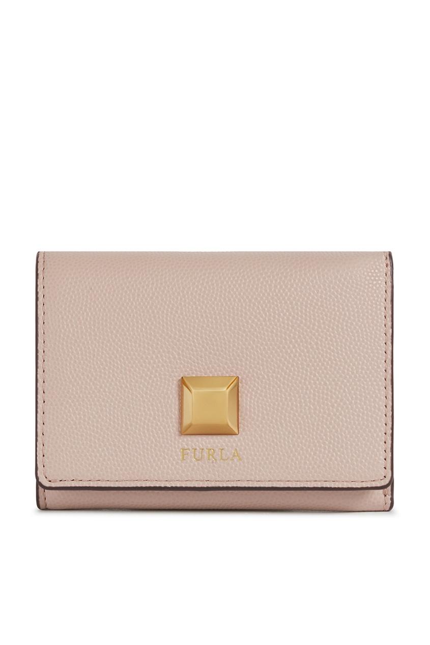 Светло-розовый кожаный кошелек Furla