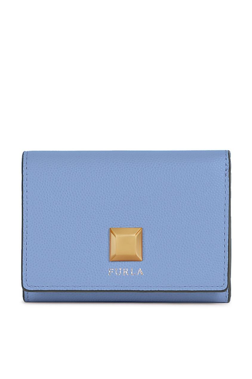 женский кошелёк furla, голубой