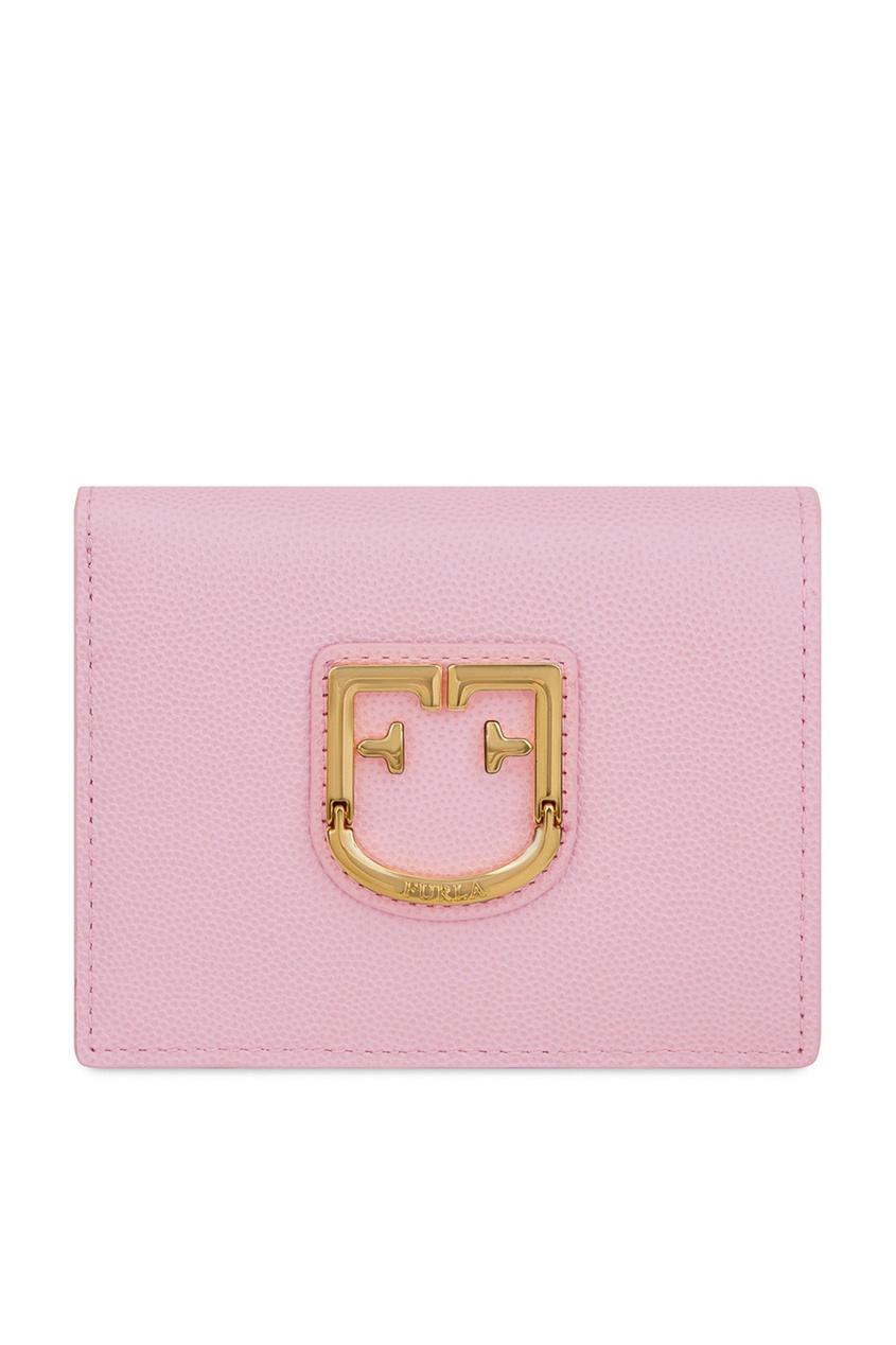 Розовый кошелек Belvedere с логотипом Furla
