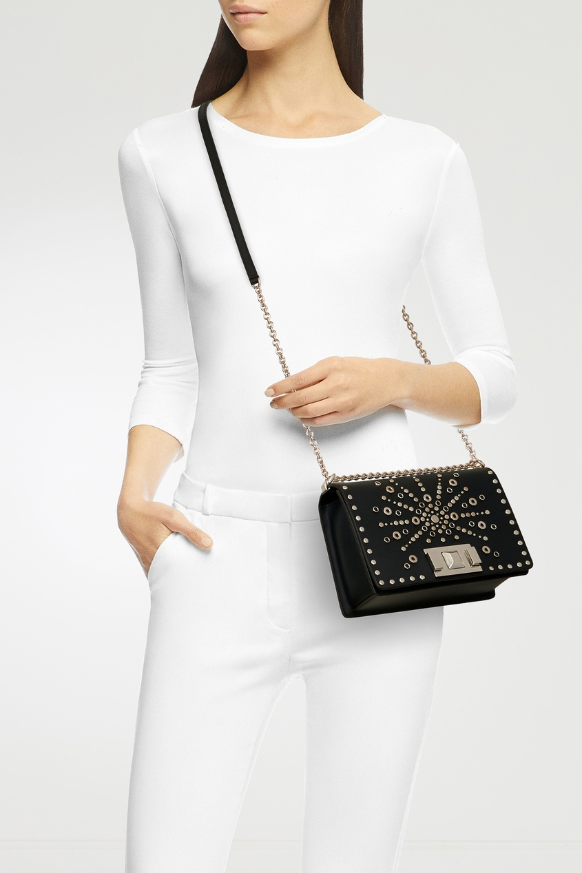 женская сумка-кроссбоди furla, черная