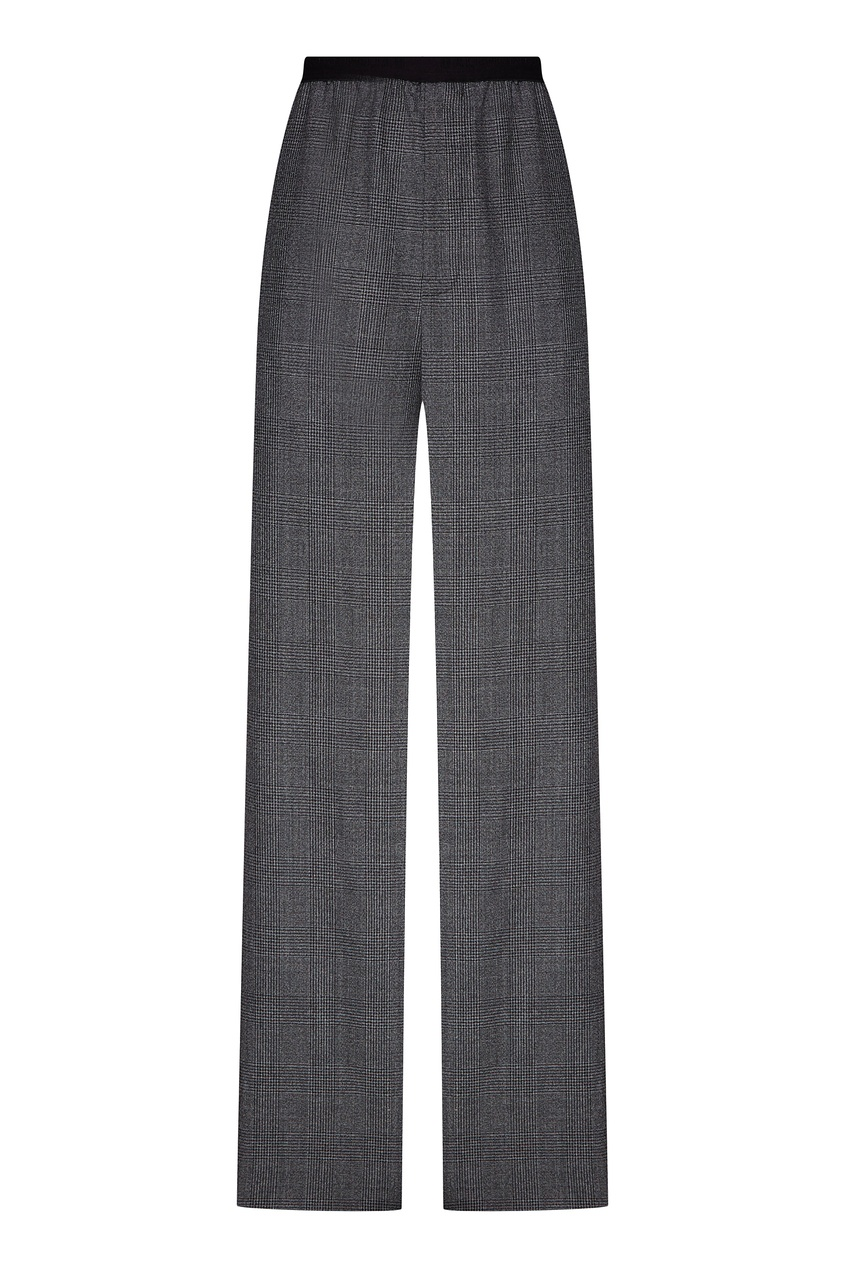 Широкие брюки в клетку «гусиная лапка» от Balenciaga