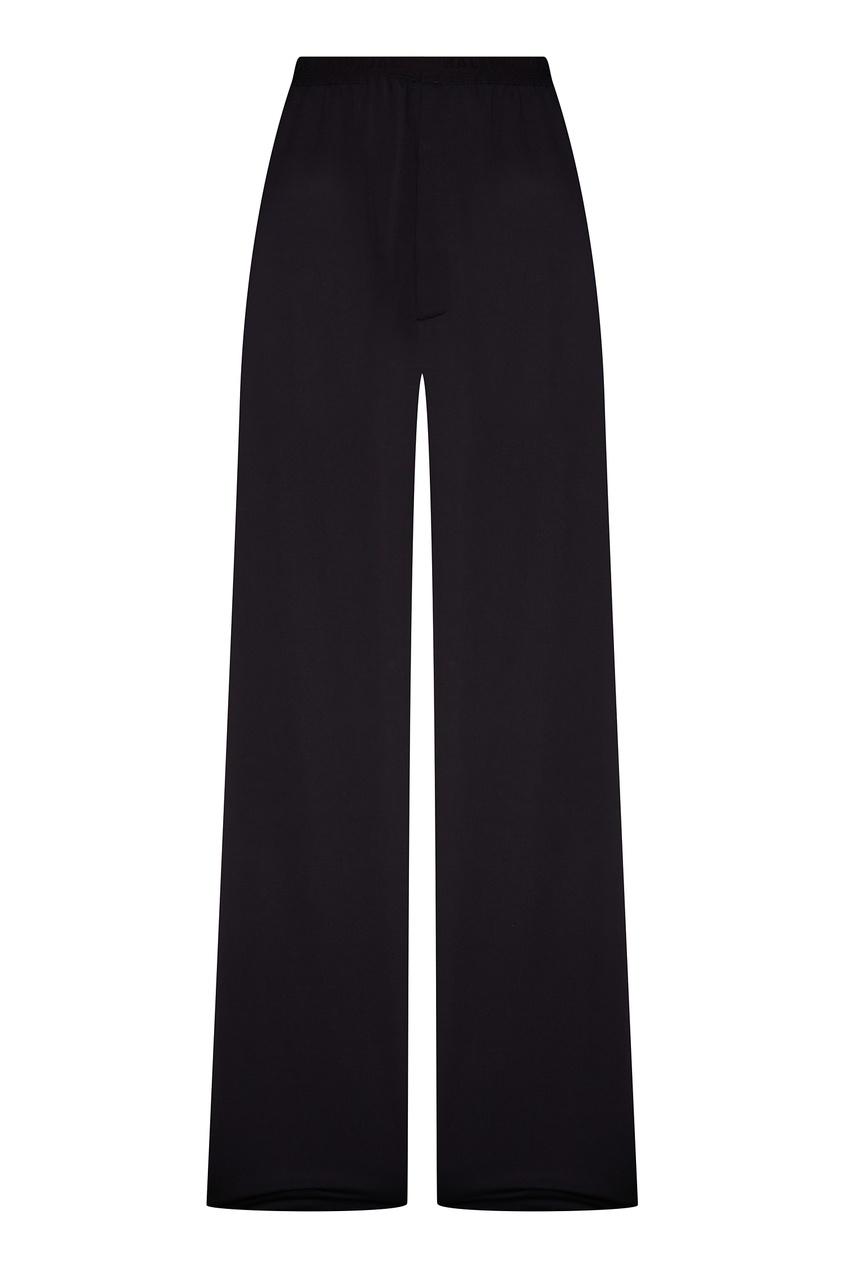 женские шерстяные брюки balenciaga, черные