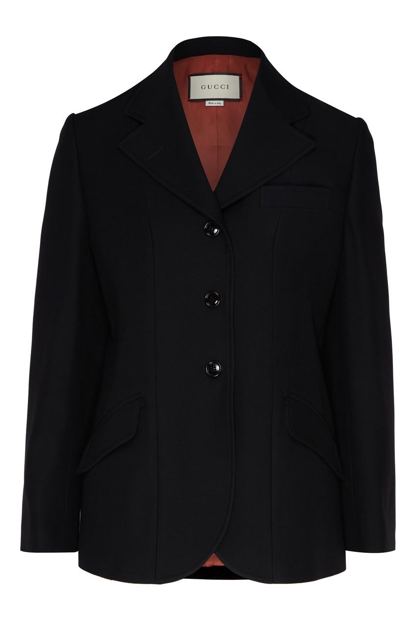 женский пиджак gucci, черный