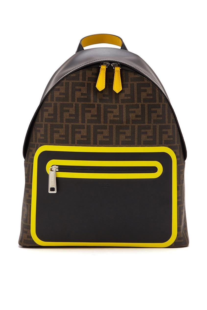 мужской рюкзак fendi, коричневый