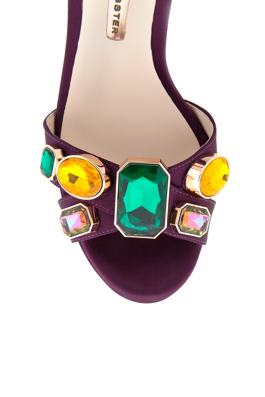 Sophia Webster Кожаные босоножки с кристаллами Amanda
