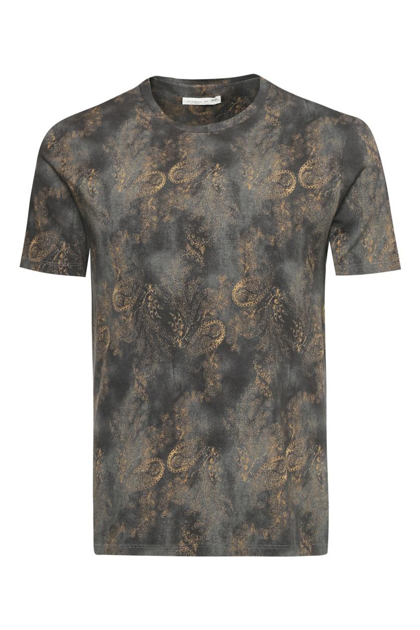 мужская футболка etro, зеленая