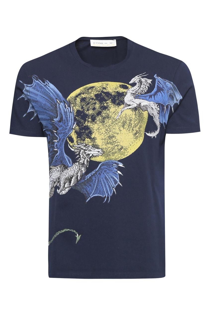 мужская футболка etro, синяя