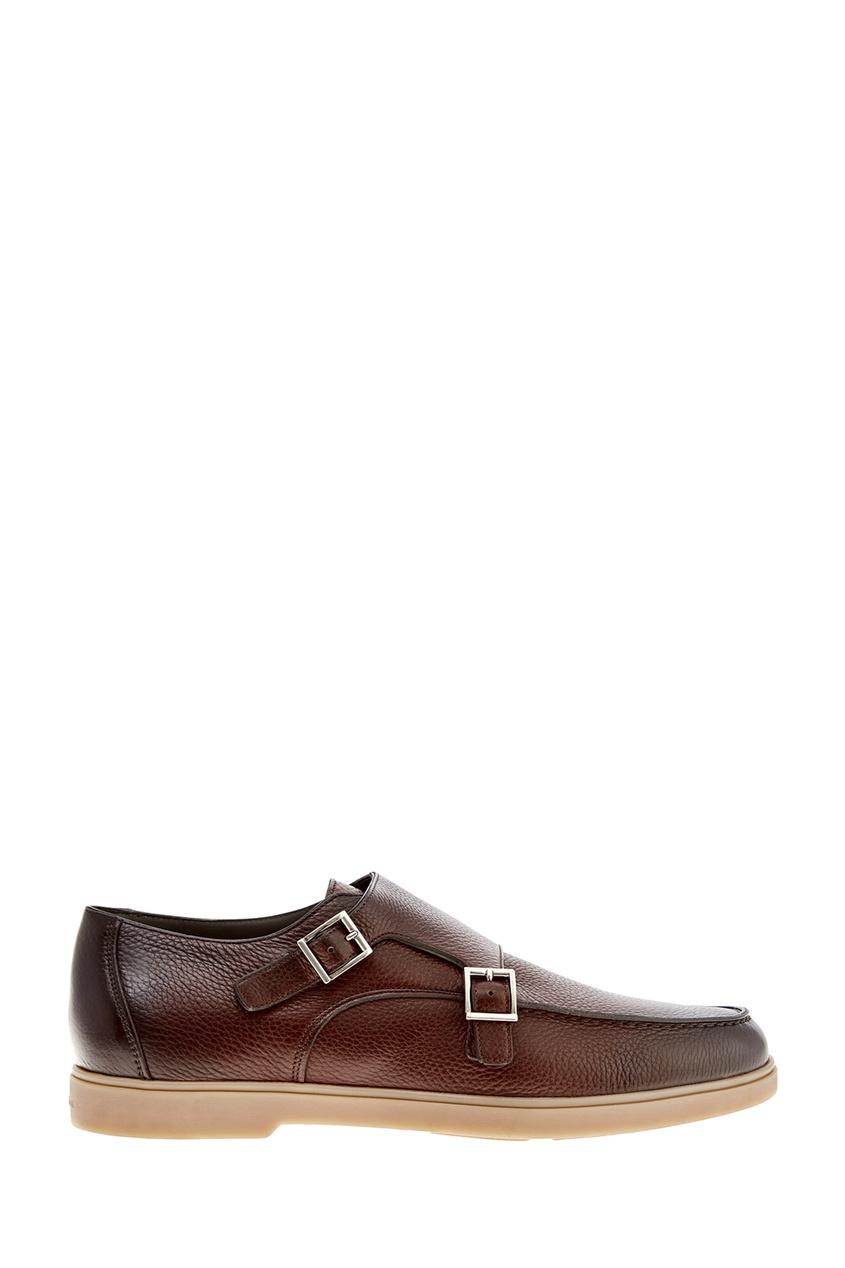 мужские туфли santoni, коричневые