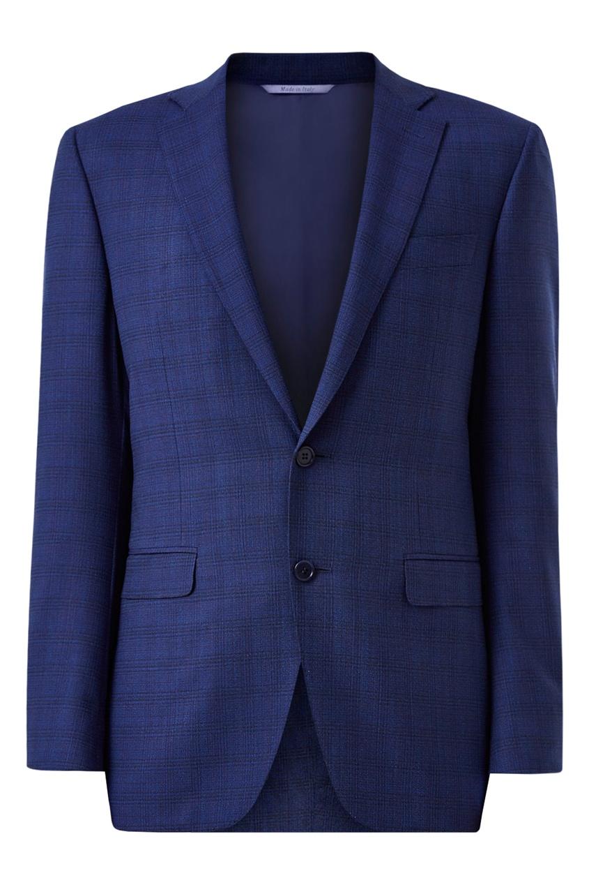 мужской костюм в клетку canali, синий