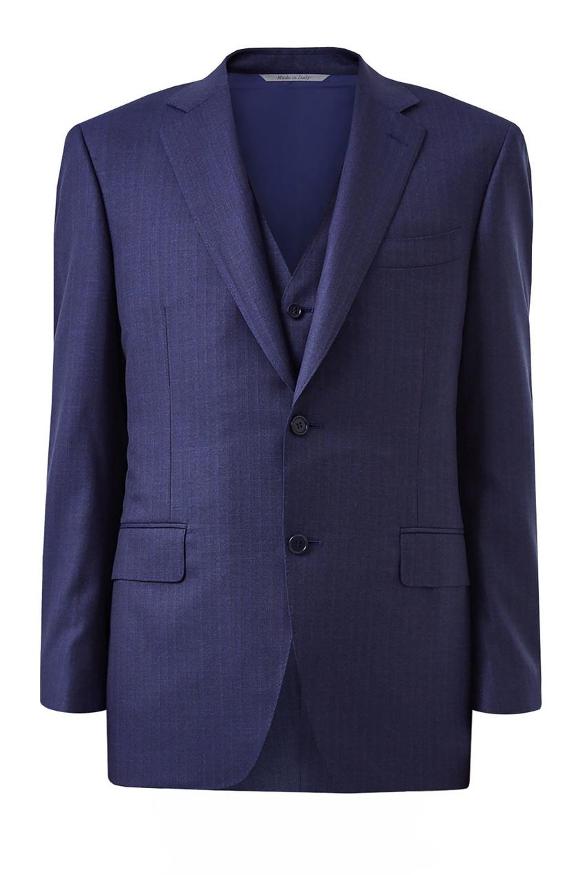 мужской костюм canali, синий