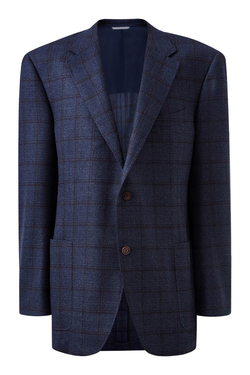 мужской пиджак canali, синий