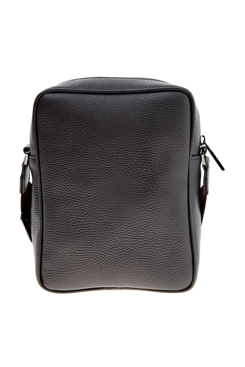 мужская кожаные сумка canali, черная
