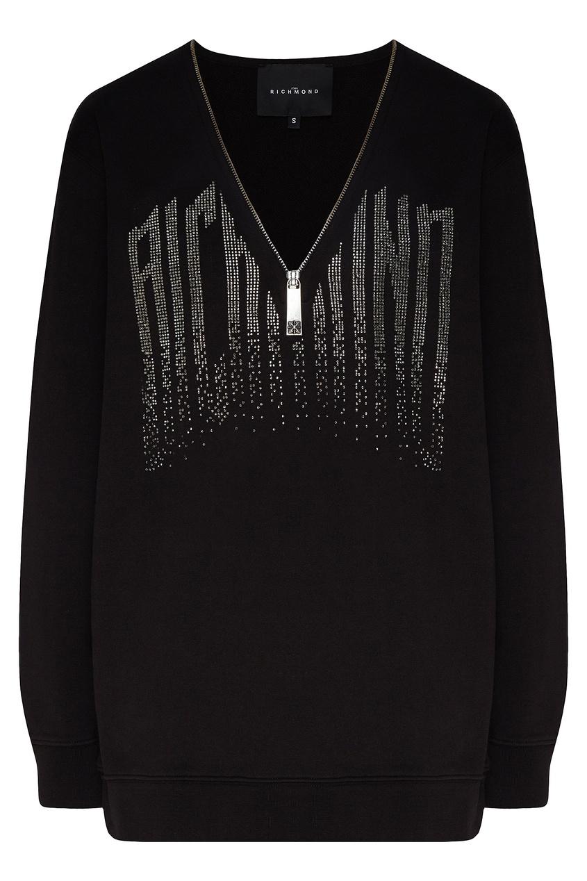 женский пуловер john richmond, черный