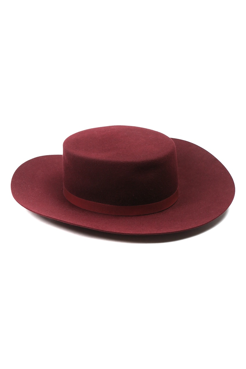 Бордовая шляпа из шерсти Alberta Ferretti