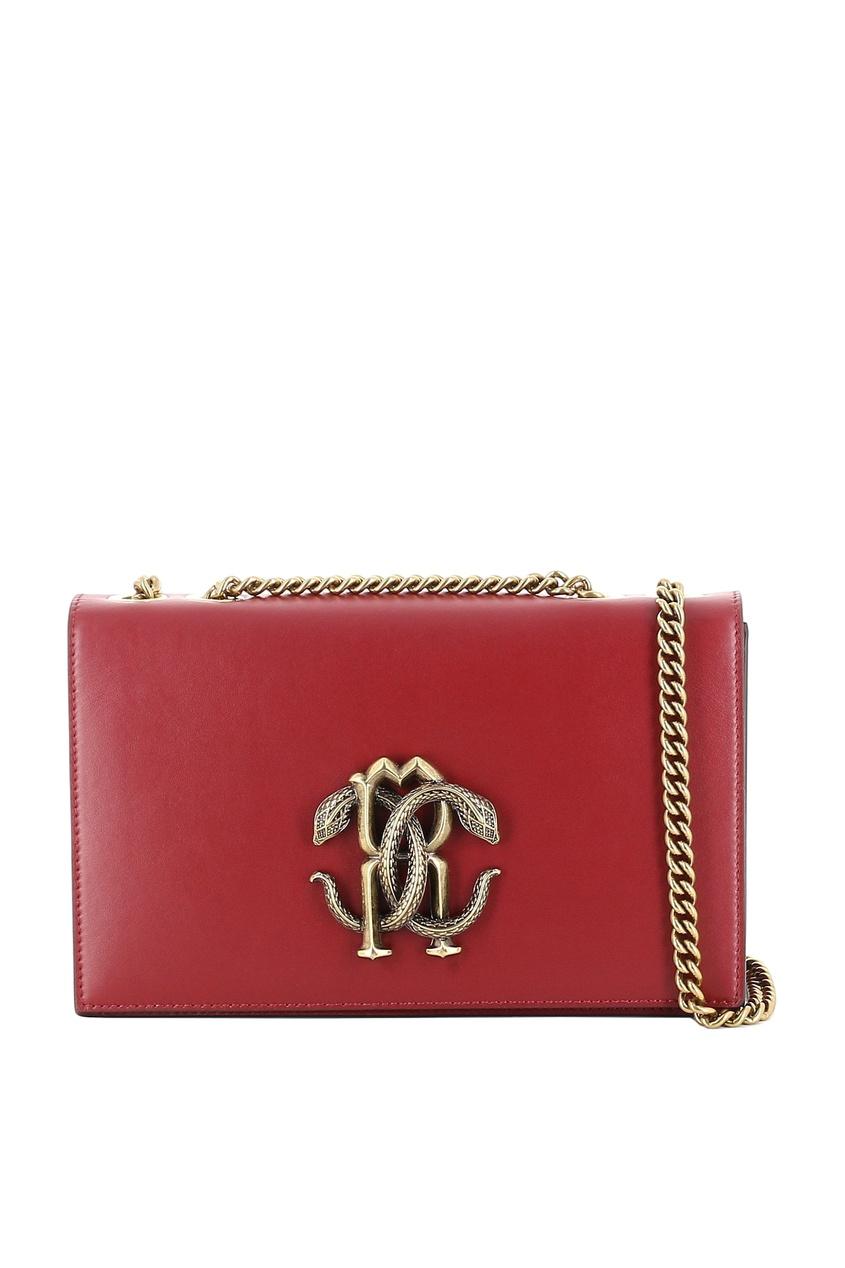 Купить со скидкой Бордовая кожаная сумка