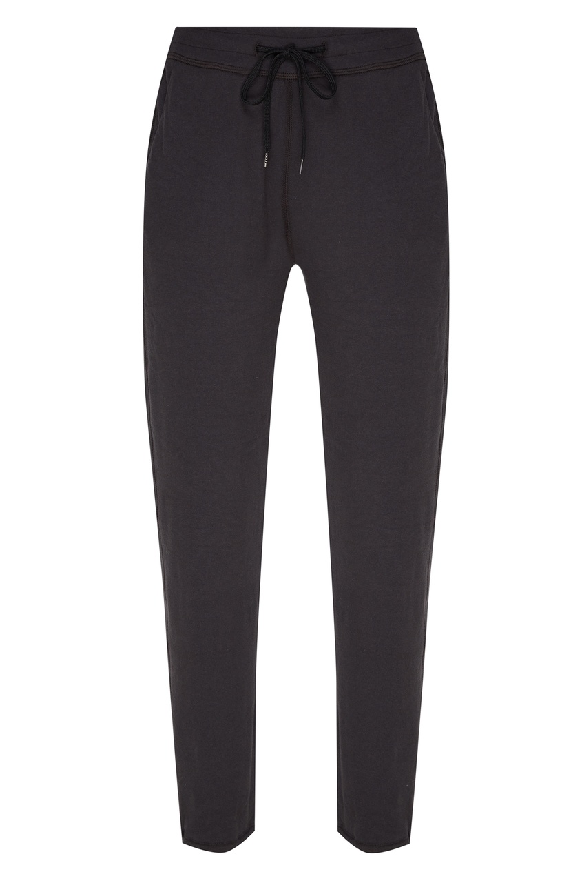 Темно-серые брюки с эластичным поясом James Perse цвет carbon