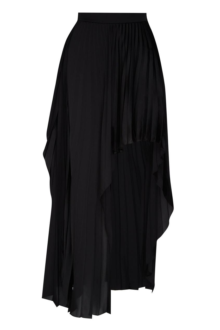 женская юбка миди stella mccartney, черная