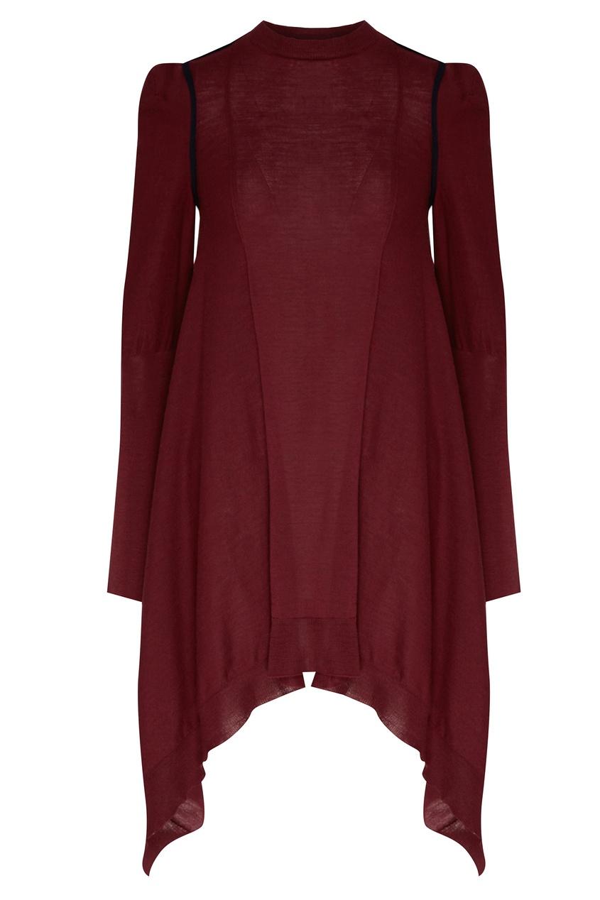 женское шерстяные платье stella mccartney, красное