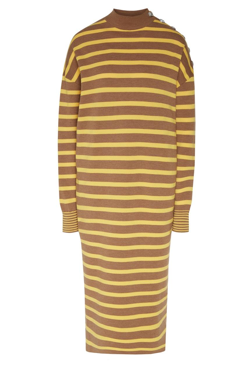 женское платье в полоску stella mccartney