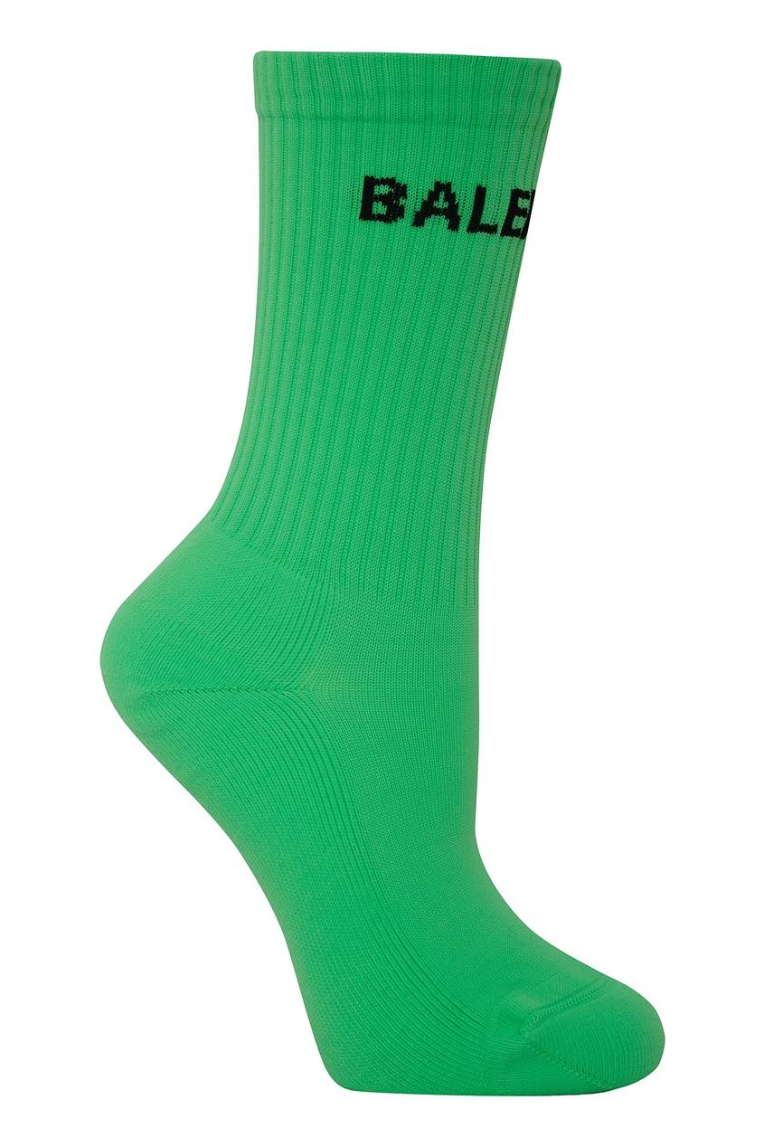 женские носки balenciaga, зеленые