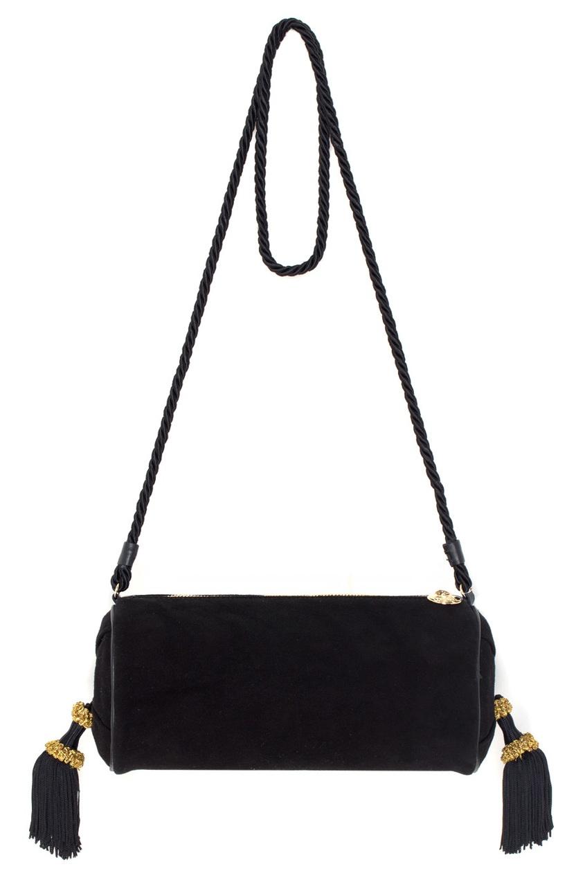 Charlotte Olympia Вельветовый клатч Bolster Bag